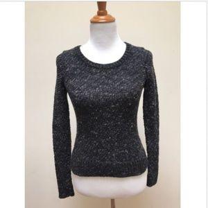 Eileen Fisher Petite Black Scoop Neck Sweater